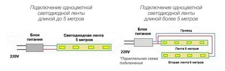 Схема светодиодной подсветки