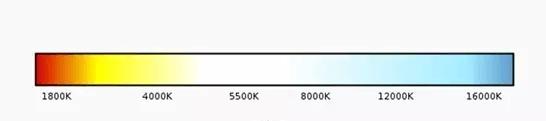 Определение и выбор цветовой температуры светодиодных ламп по таблице