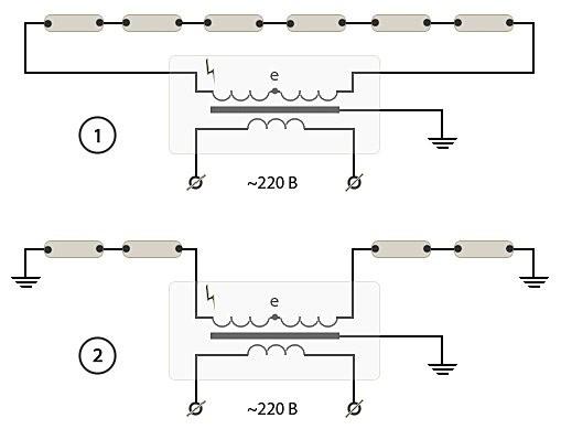 Особенности, конструкция и схемы подключения неоновых ламп