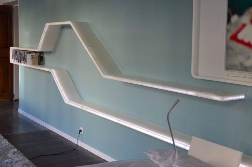 Выбор, особенности и монтаж светодиодной подсветки для полок