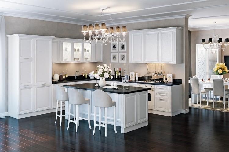 Зоны освещения кухни-гостинной